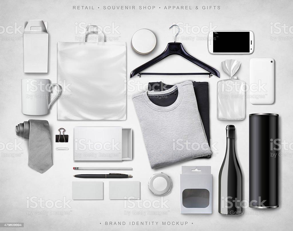 Brand Identity Mock-up stock photo