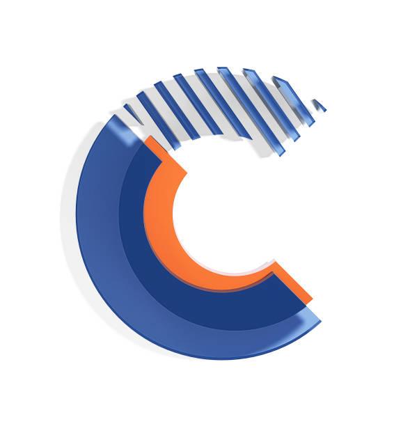 brand identity estilo font. letra c - c - fotografias e filmes do acervo