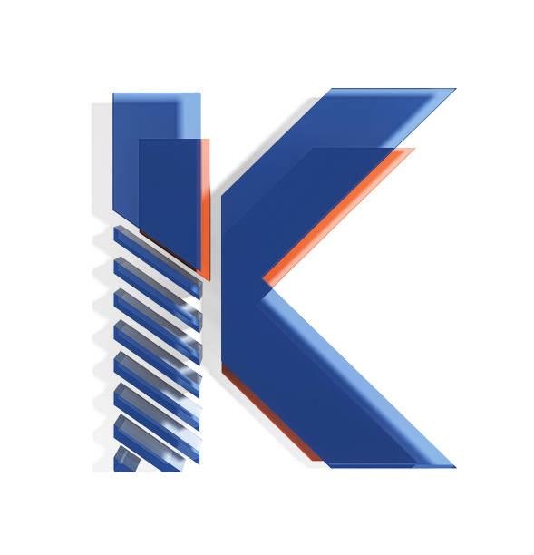 brand identity style font. letter k - k logo стоковые фото и изображения