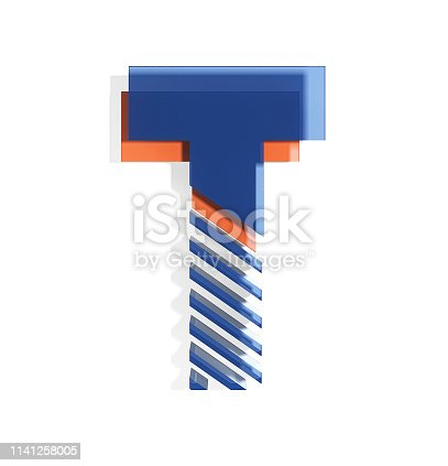 583978622 istock photo Brand Identity Style Font. Letter T 1141258005