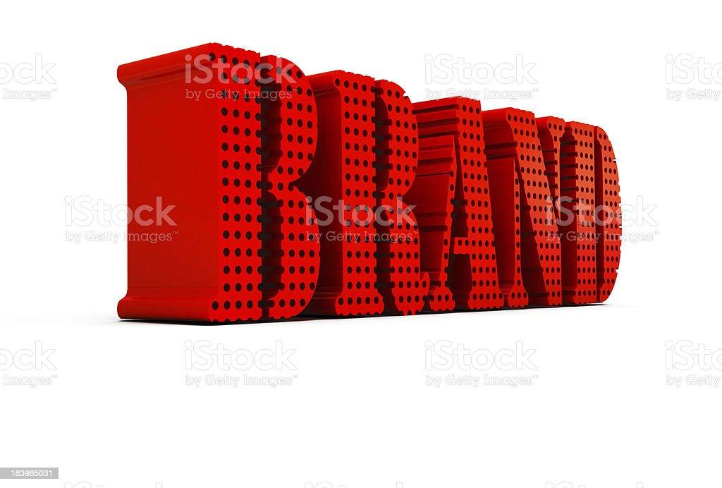 Brand Market 3D royalty-free stock photo