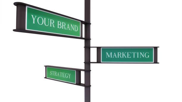 Brand, Marketing, Strategy Signs stock photo