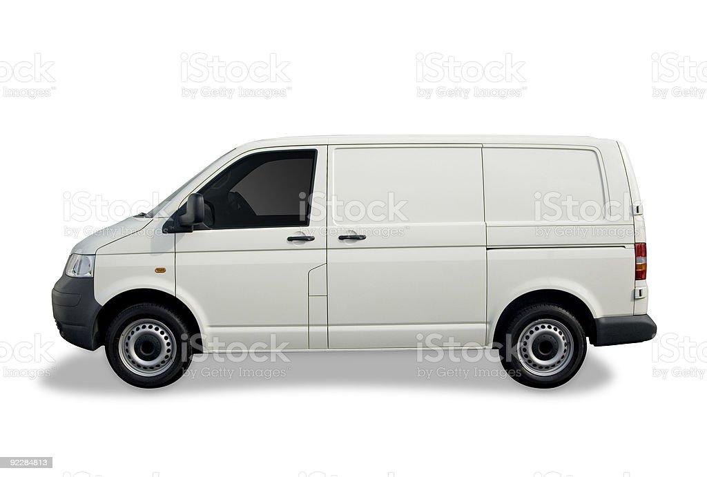 Brand me white van royalty-free stock photo