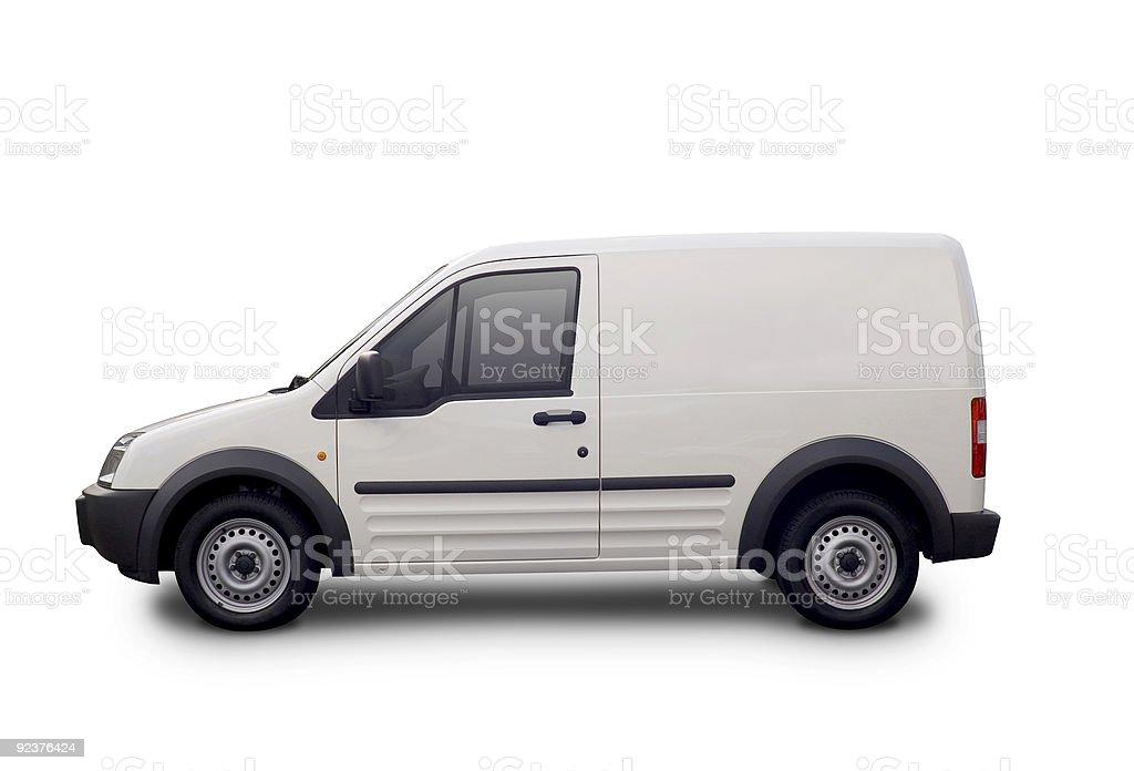Brand me white van stock photo