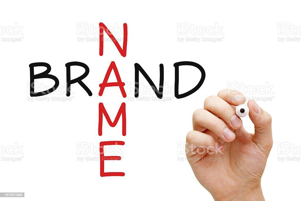 Brand Name Crossword stock photo