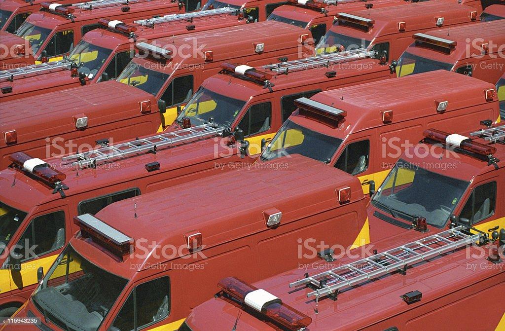 Brand new ambulances royalty-free stock photo