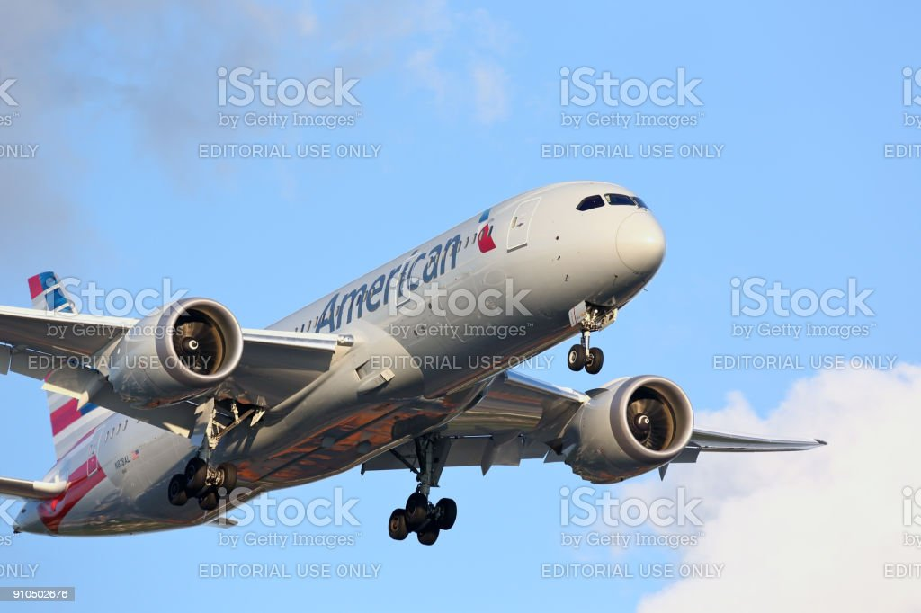 Nova marca American Airlines Boeing 787 Dreamliner - foto de acervo