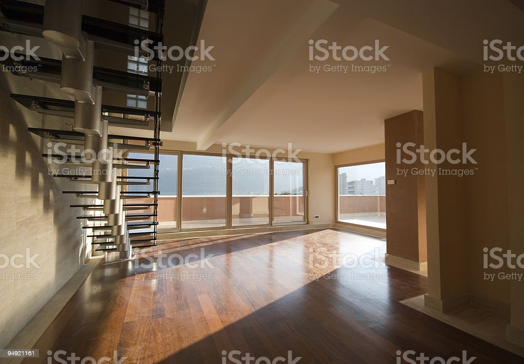 A brand new apartment to rent or buy stock photo