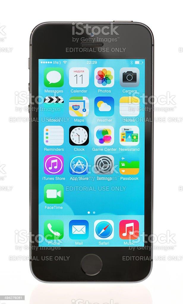 Brand new Apple iPhone 5S stock photo