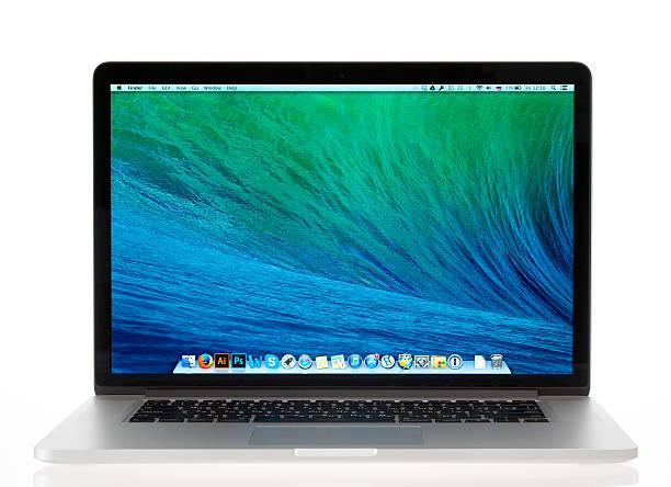 Brand new Apple MacBook Pro Retina stock photo
