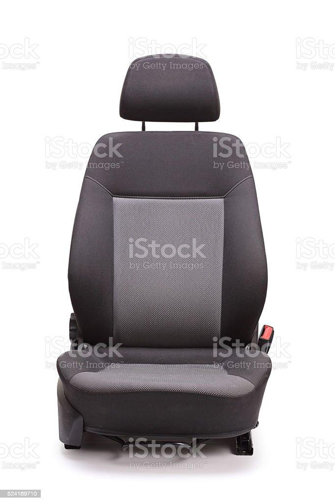 Brand new black car seat stock photo