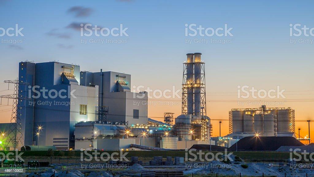 Brand new coal power plant stock photo