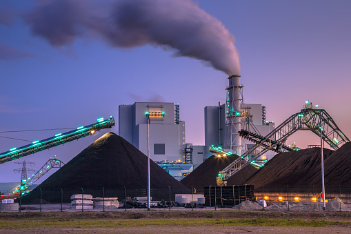Brand New Coal Powered Plant In Eemshaven Stock Photo - Download Image Now