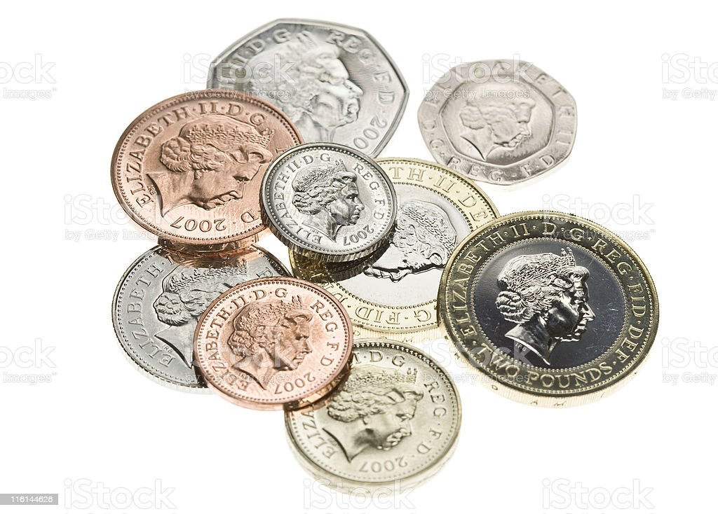Brand New Coins stock photo