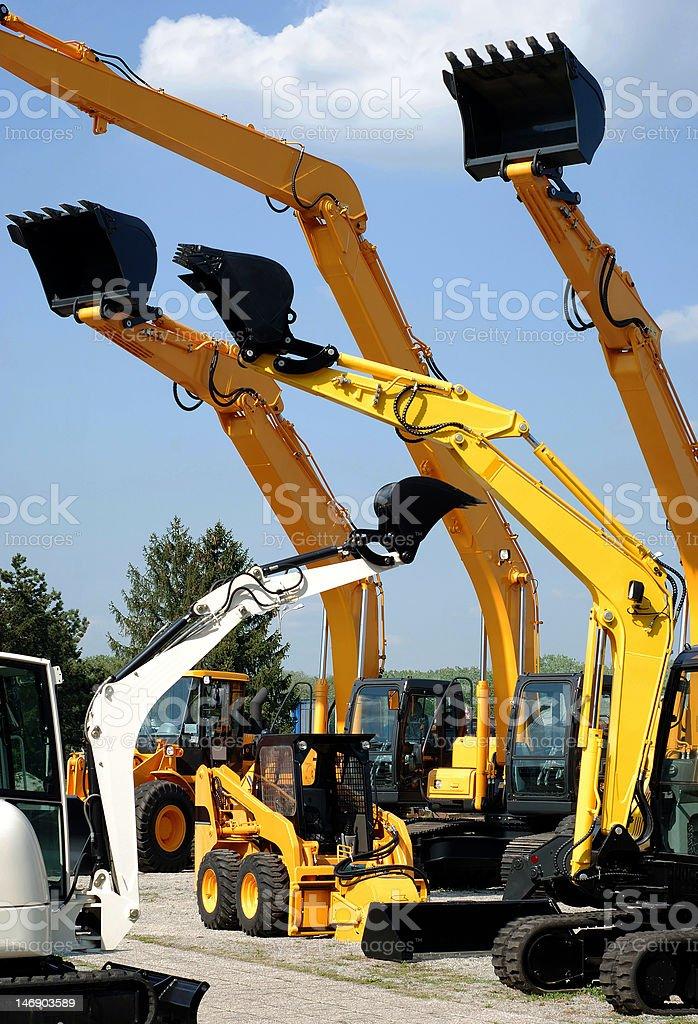 brand new excavators royalty-free stock photo