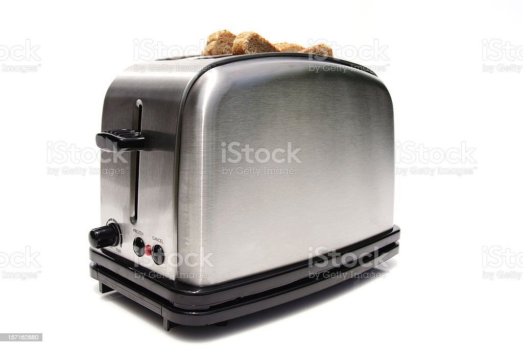 brand new modern toaster stock photo