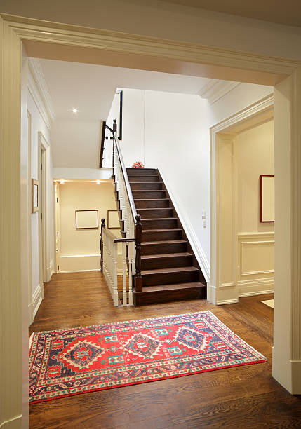 brand new north american home - carpet runner stock photos and pictures