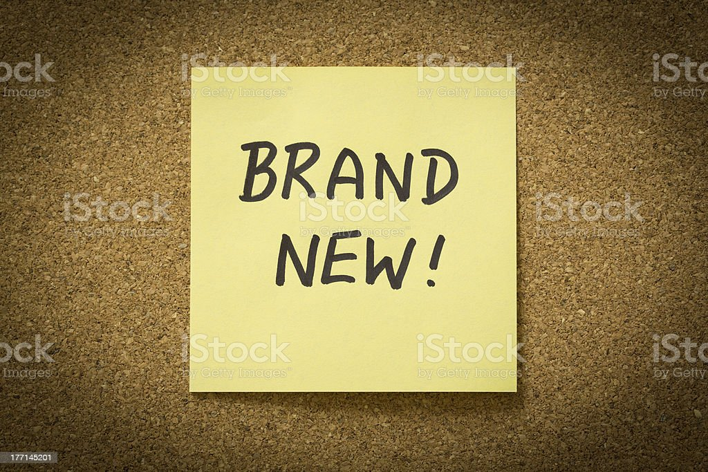 Brand New royalty-free stock photo