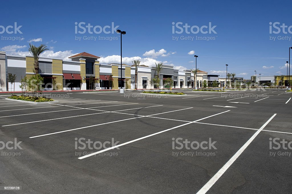 Brand New Strip Mall stock photo