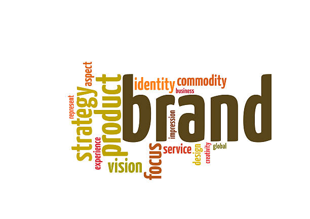 brand strategy word cloud stock photo