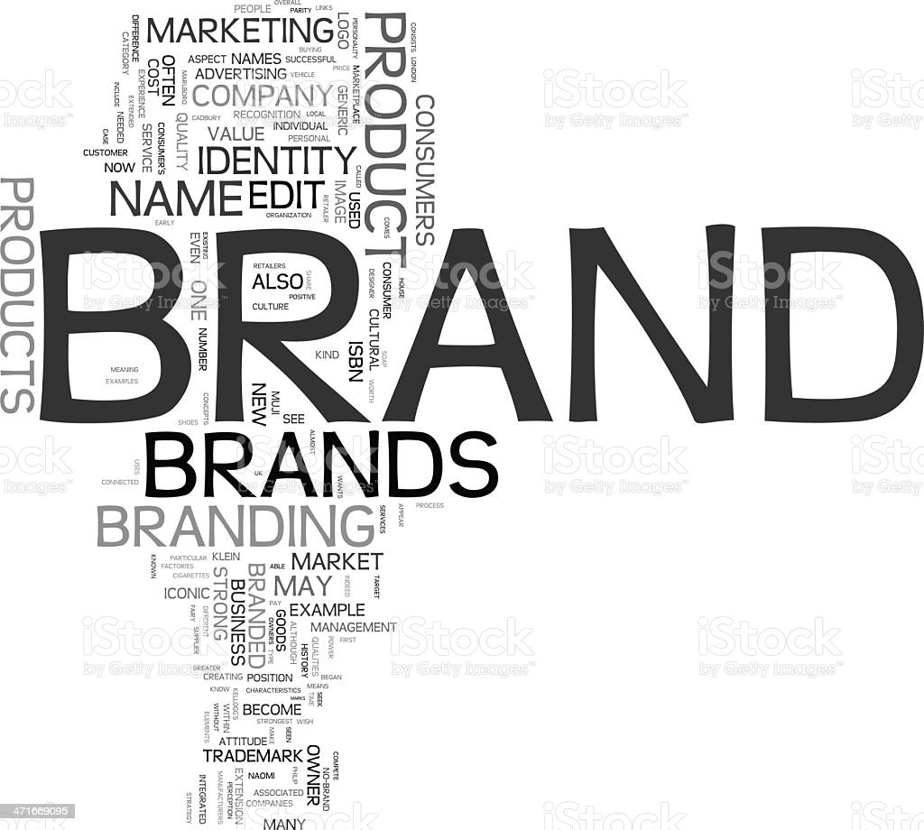 Brand tag cloud royalty-free stock photo