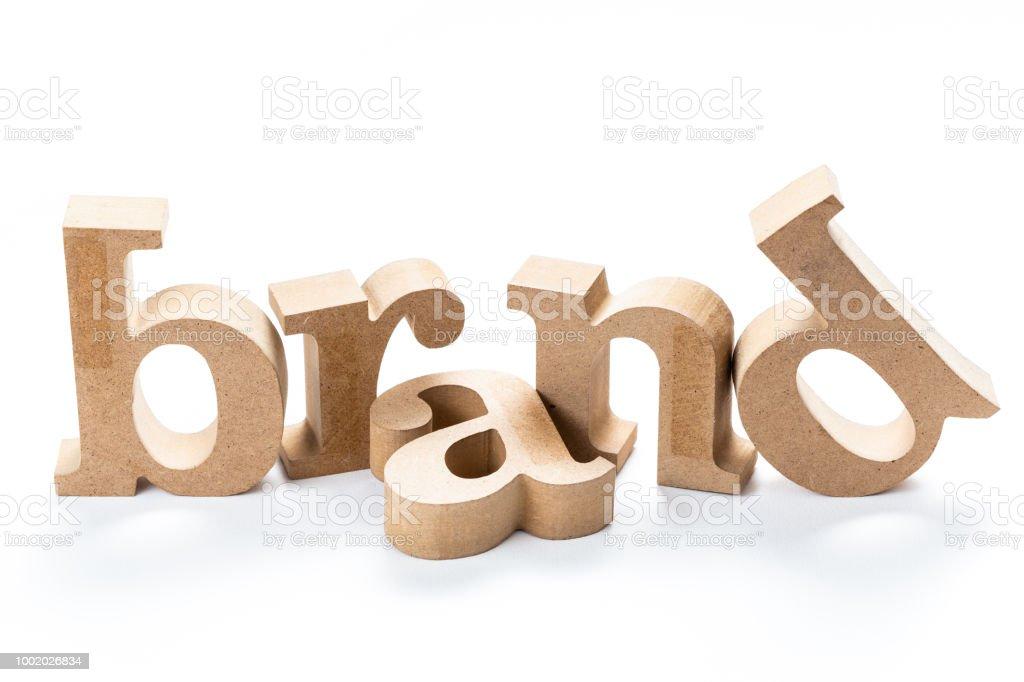Palabra de madera marca foto de stock libre de derechos