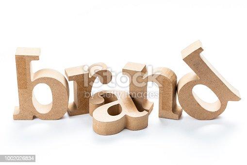 istock Brand wood word 1002026834