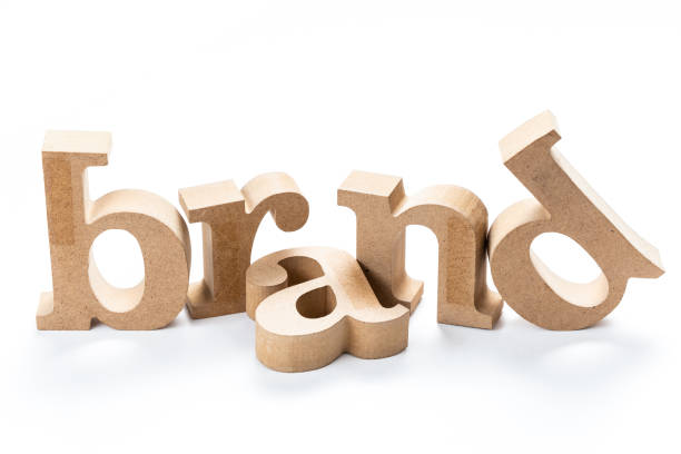 brand wood word - advertisement stock photos and pictures