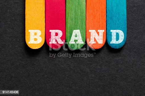 istock Brand Word on Wood Block 914145406