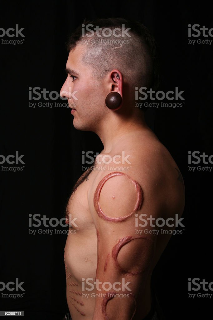 Branded Coy Side View stock photo
