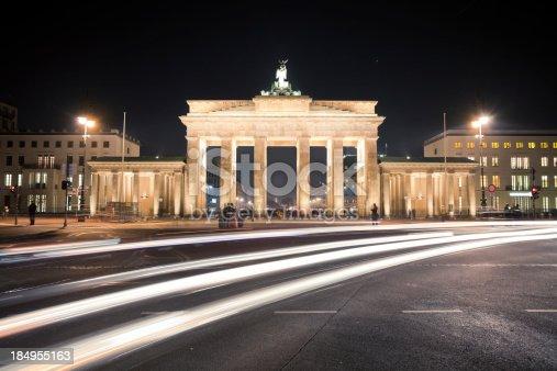 People and traffic at Brandenburg gate