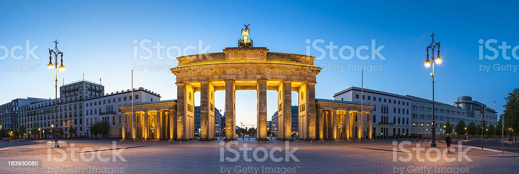 Brandenburg Gate, Berlin, Germany in evening stock photo