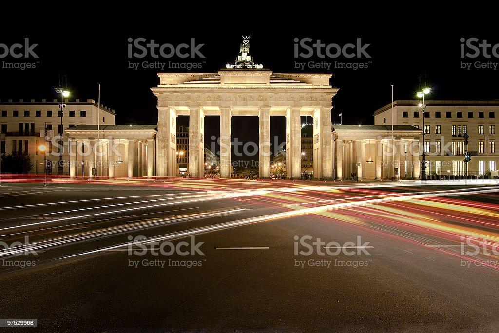 Brandenburg Gate by Night royalty-free stock photo