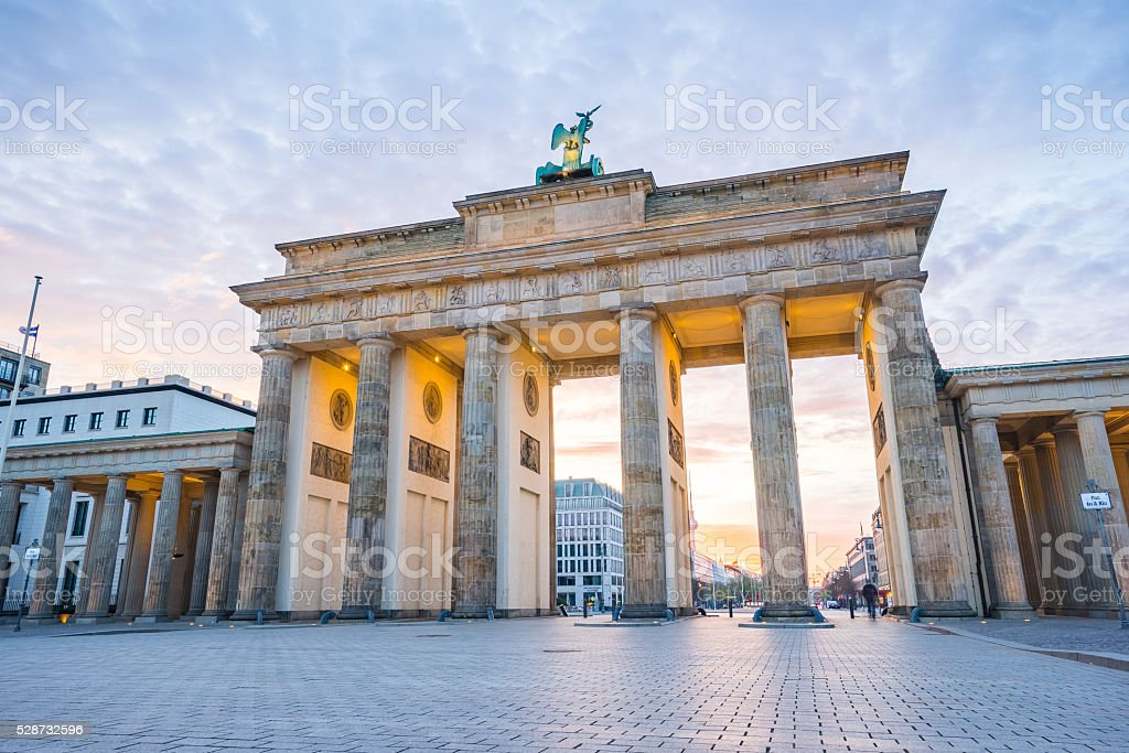 Brandenburger Tor (Brandenburg Gate) in Berlin Germany stock photo