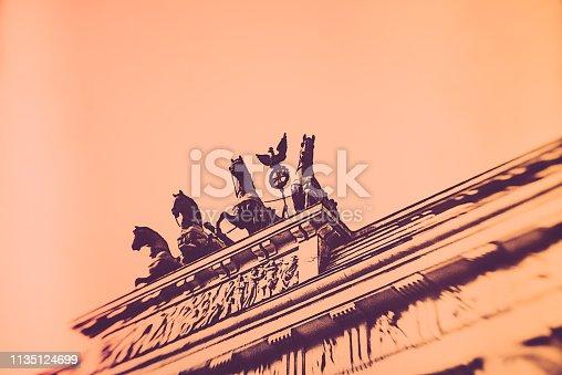 Berlin, East Germany, Europe, Germany, Third Reich, Brandenburg Gate, Tourism, vintage,
