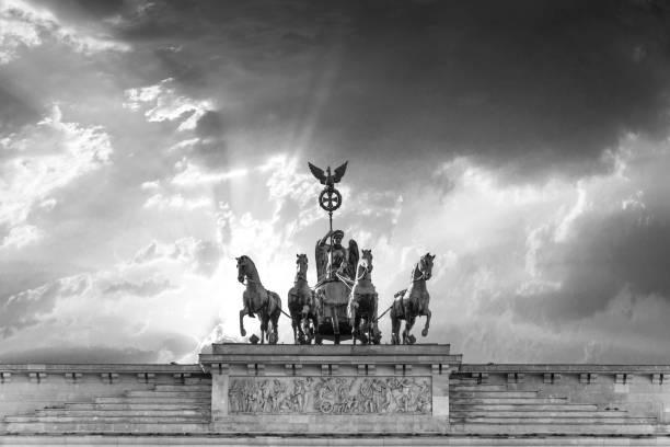 Brandenburg Gate (Brandenburg Gate) in Berlin stock photo