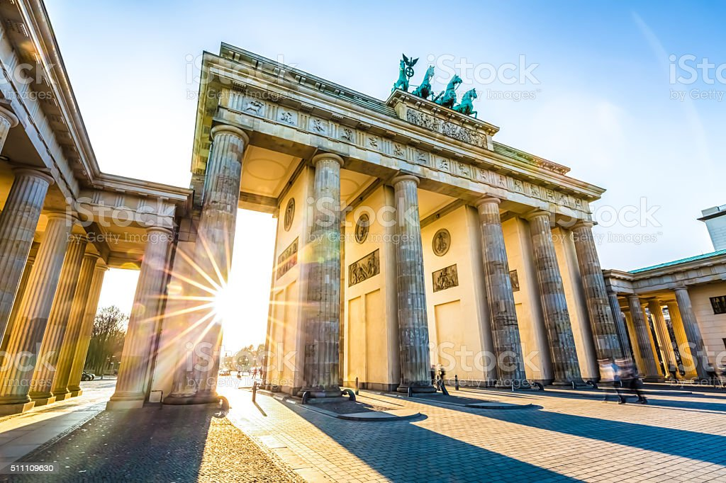 Brandenburg Gate in Berlin stock photo