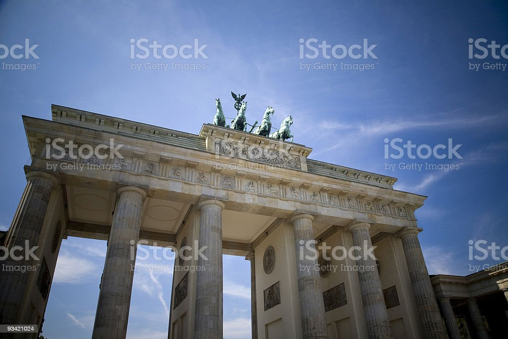Brandenburger Tor in Berlin royalty-free stock photo