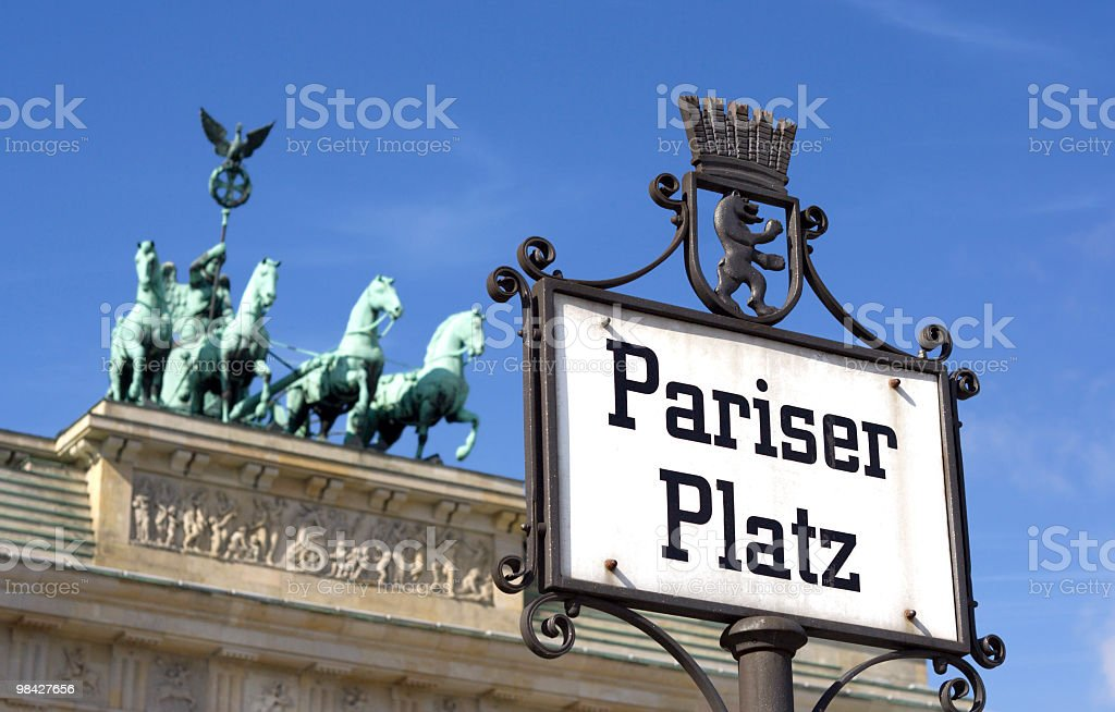 Brandenburger Gate in Berlin royalty-free stock photo