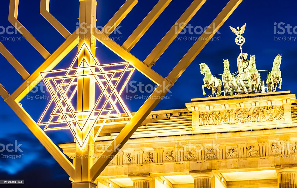 Brandenburg Gate in Christmas Time stock photo