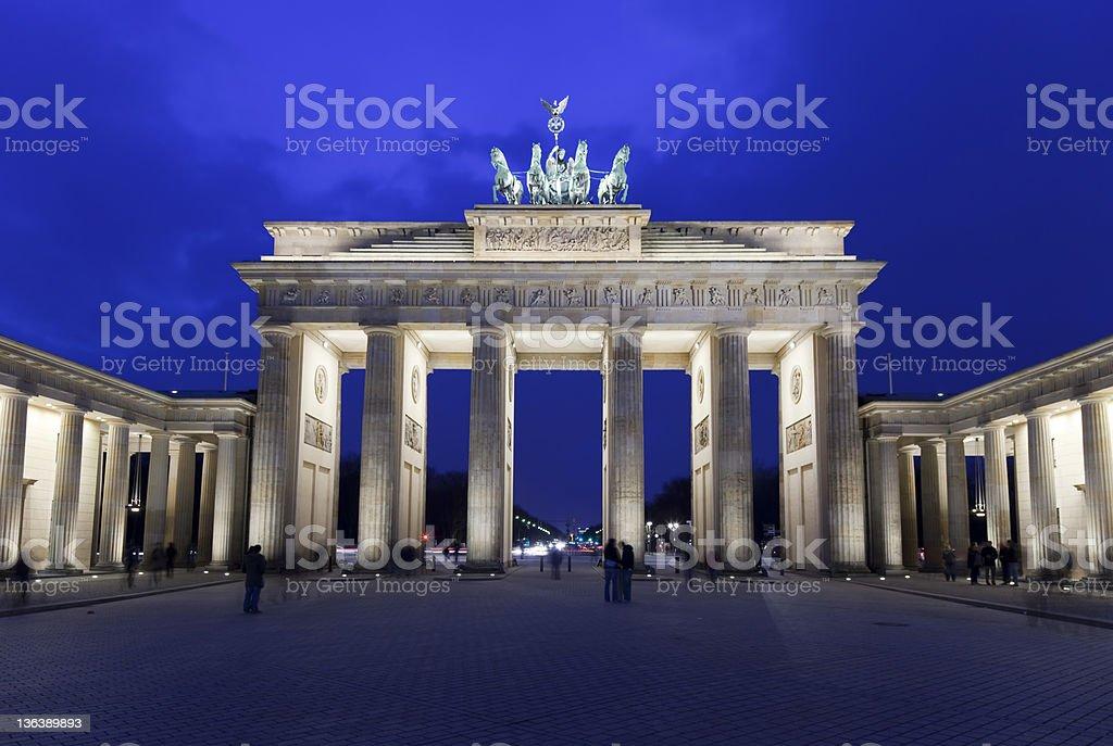 brandenburg gate in twilight royalty-free stock photo