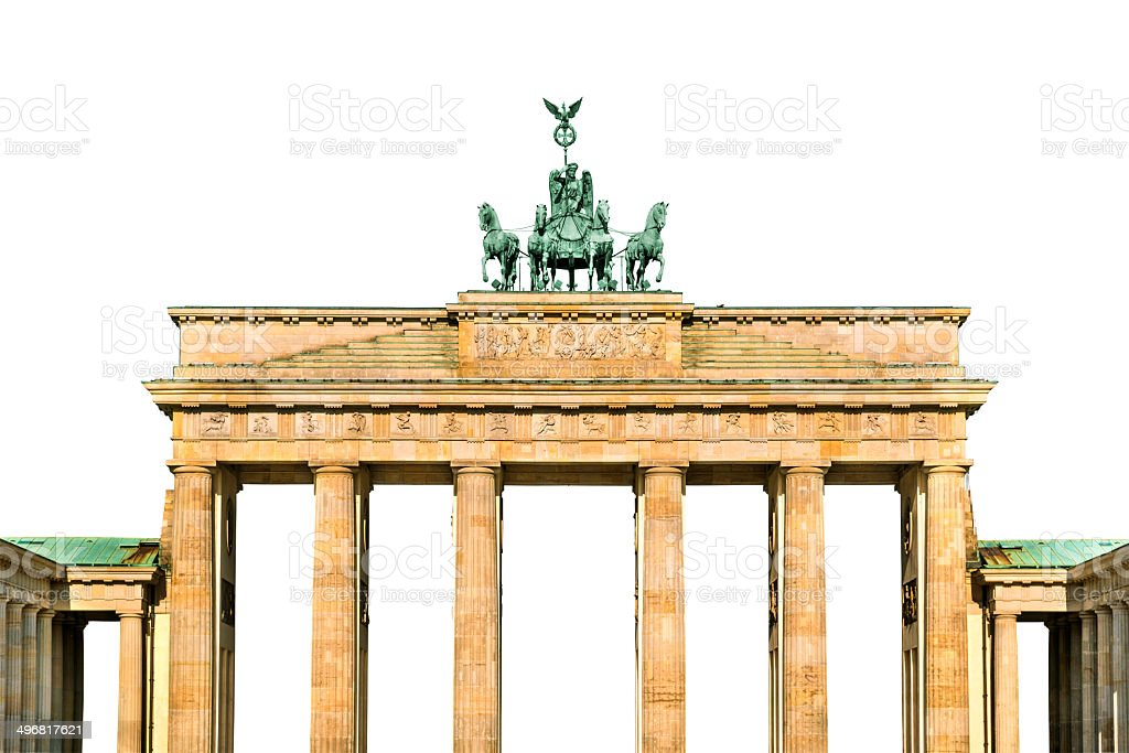 Brandenburg gate isolated stock photo