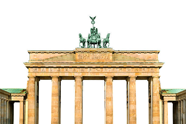 Brandenburg gate isolated stock photo