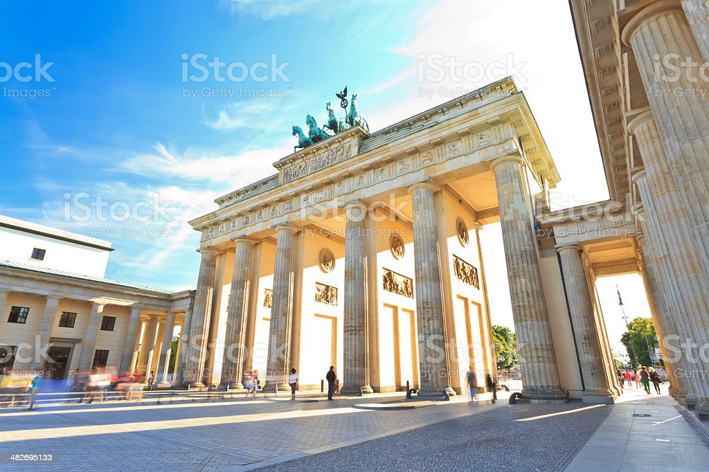 Brandenburg gate of Berlin stock photo