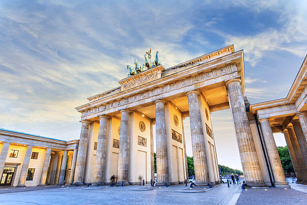 Brandenburg gate Brandenburg gate of Berlin, Germany berlin stock pictures, royalty-free photos & images