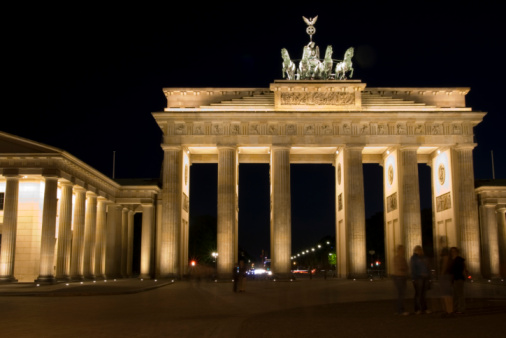 The Brandenburg Gate is a triumphal arch and the symbol of Berlin in Germany.Above the gate is the Quadriga.