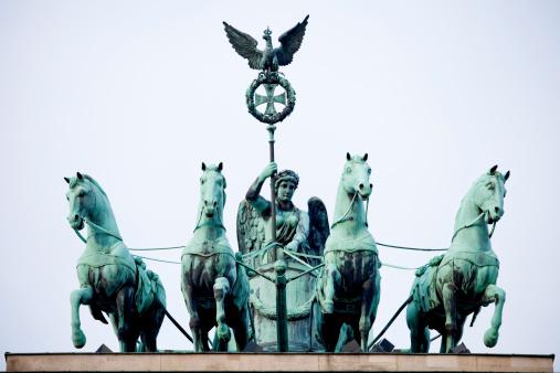 Brandenburg Gate, Quadriga at dawn