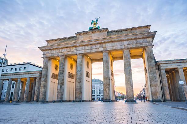Brandenburger Tor (Brandenburg Gate) in Berlin Germany stock photo