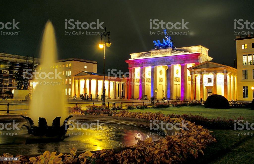 Brandenburger Tor in Berlin royalty-free stock photo