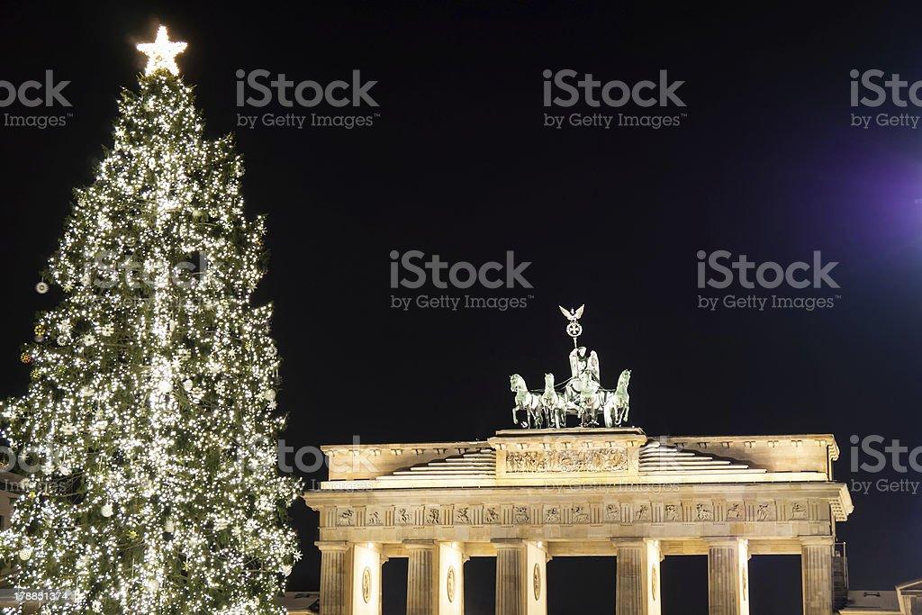 brandenburger tor in december royalty-free stock photo